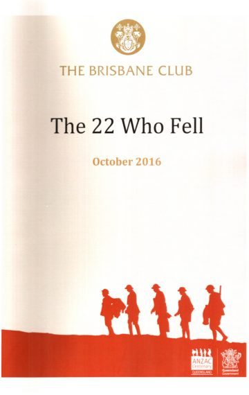 The 22 Who Fell